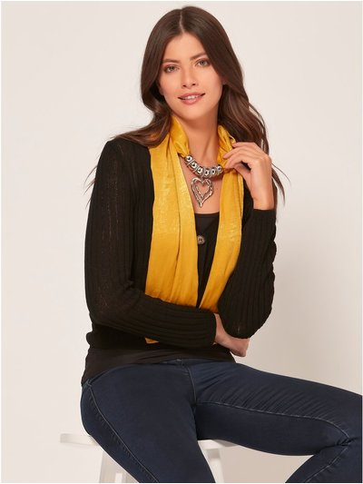 Muse ochre fabric necklace