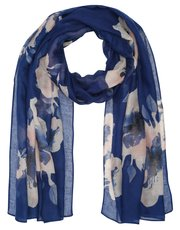 Oversize floral print lightweight scarf