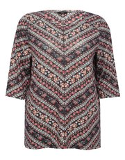 Plus paisley print top