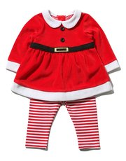 Santa Claus top and leggings Christmas set (Newborn-18mths)