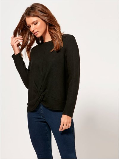 Petite knot front top
