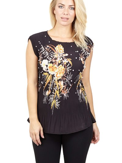 Izabel floral peplum top