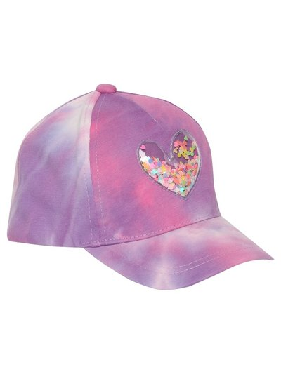 Sequin heart tie dye cap (3yrs-10yrs)