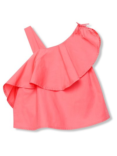 Minoti one shoulder top (3-13yrs)