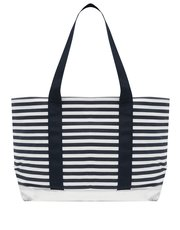 Breton stripe beach bag
