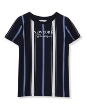 New York slogan stripe t-shirt (4 - 13 yrs)