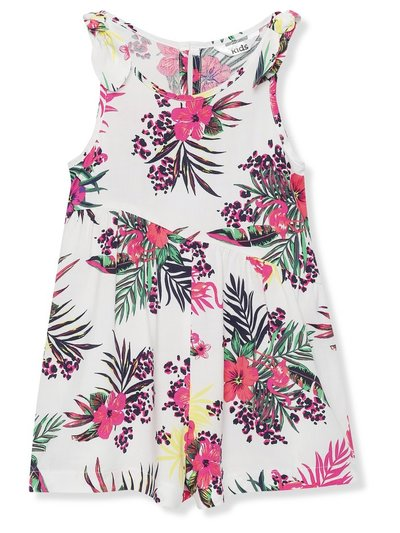 Tropical print playsuit (3-12yrs)