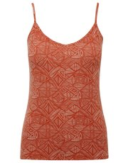 Tile print cami vest top