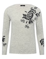 Petite floral embroidered jumper