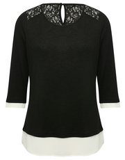 Two in one lace top