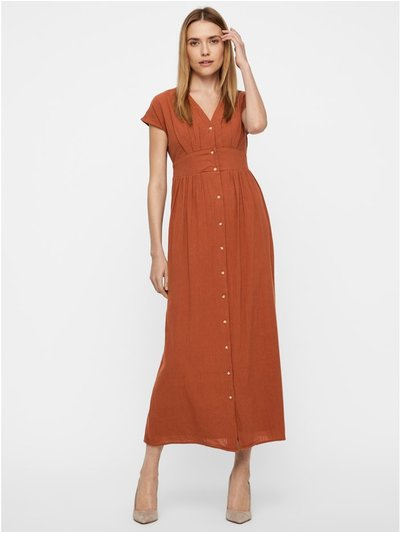 Vero Moda button front maxi dress