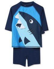 Shark rash top and shorts set (9mths-5yrs)