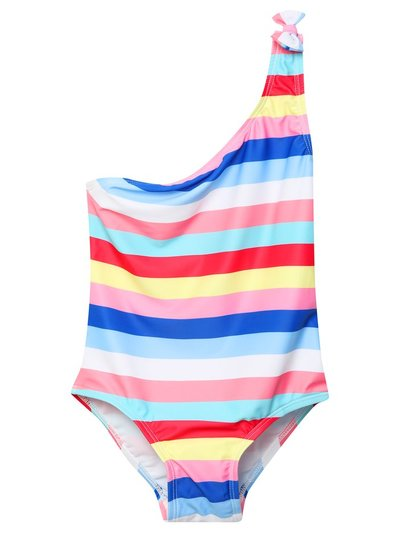 One shoulder rainbow swimsuit (3-12yrs)