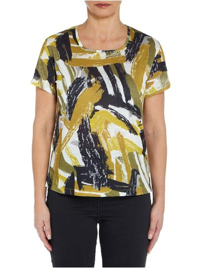 VIZ-A-VIZ abstract print top