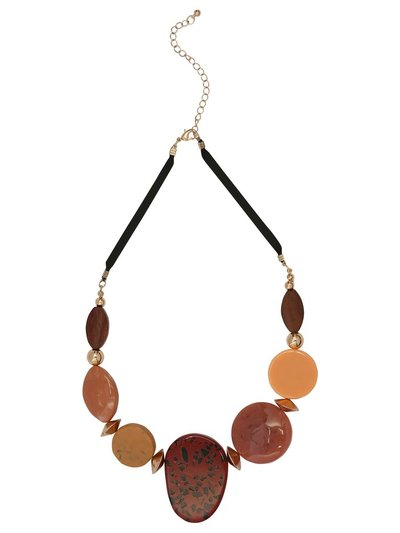Pebble disc necklace
