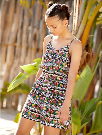 Teen aztec print playsuit