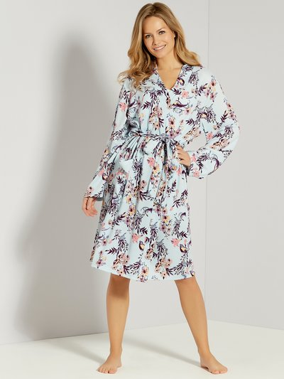 Floral print dressing gown