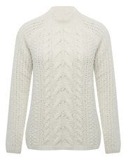 Chenille cable knit jumper