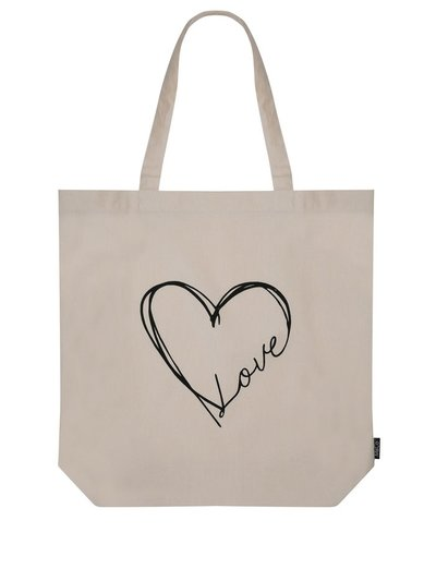 Heart print bag for life