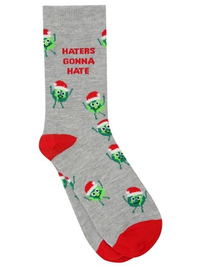 Brussel sprout slogan socks