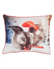 Bunny Christmas cushion