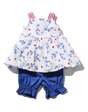 Floral top and bloomers set (0 mths - 4 yrs)