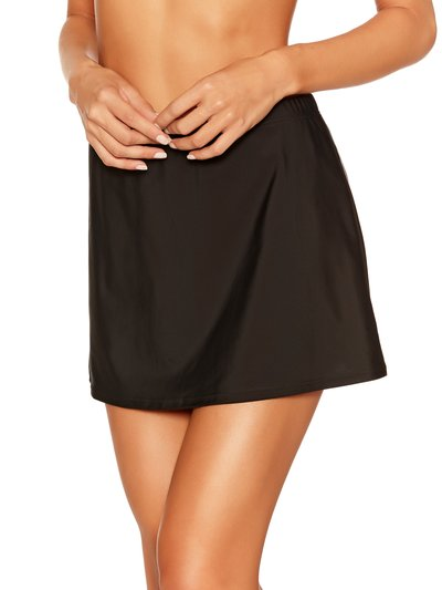 Plain black swim skirt