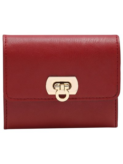 Red lock front purse