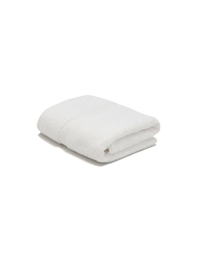 White combed cotton hand towel