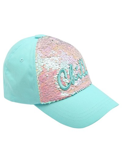 Teen chill two way sequin cap