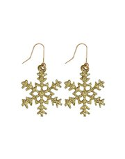 Glitter snowflake earrings