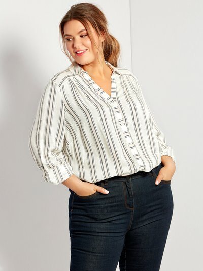 Plus textured stripe shirt