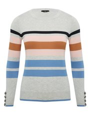 Petite mixed stripe jumper
