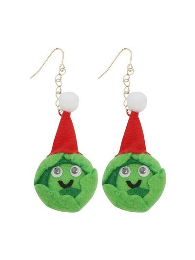 Novelty Brussels sprout earrings