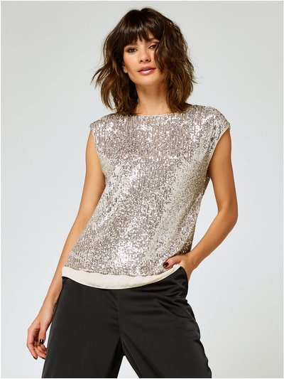 Sequin tie back top