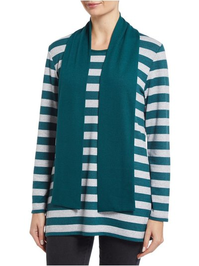 TIGI striped tunic and scarf