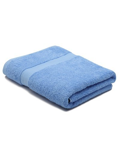 White combed cotton bath sheet