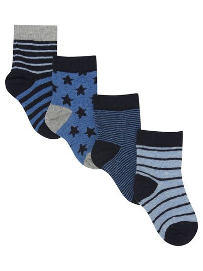 Stripe and star socks four pack