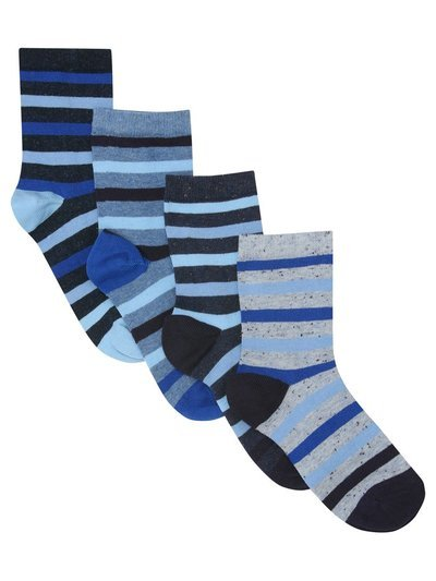 Stripe socks four pack