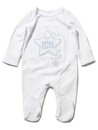 Born in 2019 sleepsuit (Tiny baby - 9 mths)