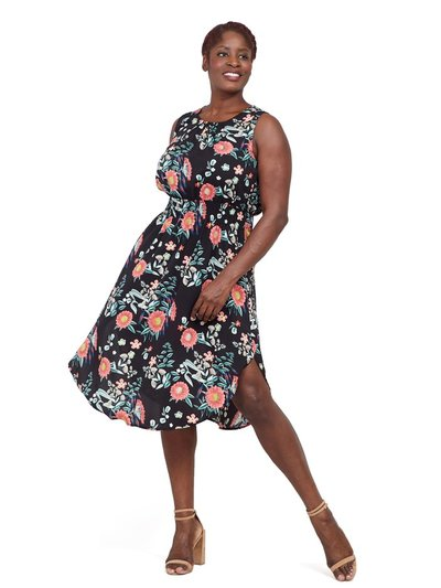 Izabel Curve blossom floral midi dress