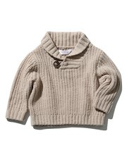 Shawl neck chenille jumper