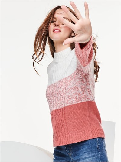Petite cable knit ombre jumper