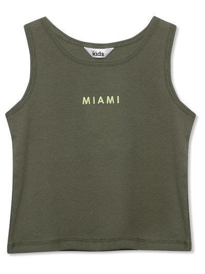 Slogan ribbed vest top (3yrs-12yrs)