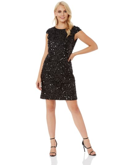 Roman Originals sequin tinsel shift dress