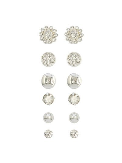 Stud earrings six pair pack
