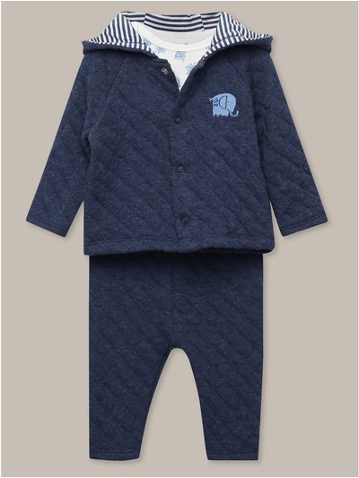 Animal jacket t-shirt and trousers set (Newborn-18mths)