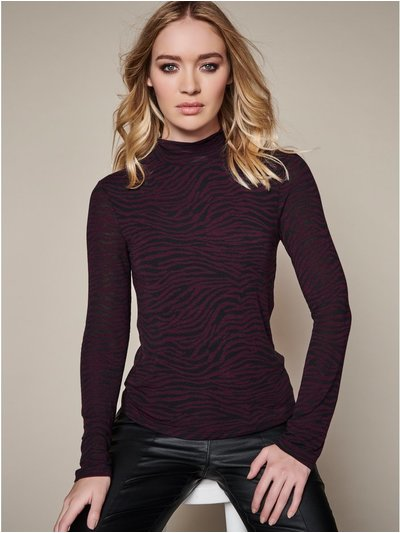 Sonder Studio zebra roll neck top