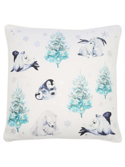 Winter animal cushion