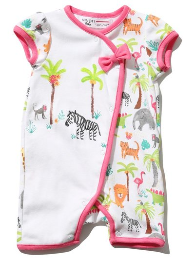 Minoti jungle print romper